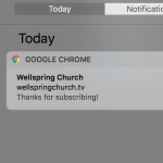 Wellspring Church Desktop Notification